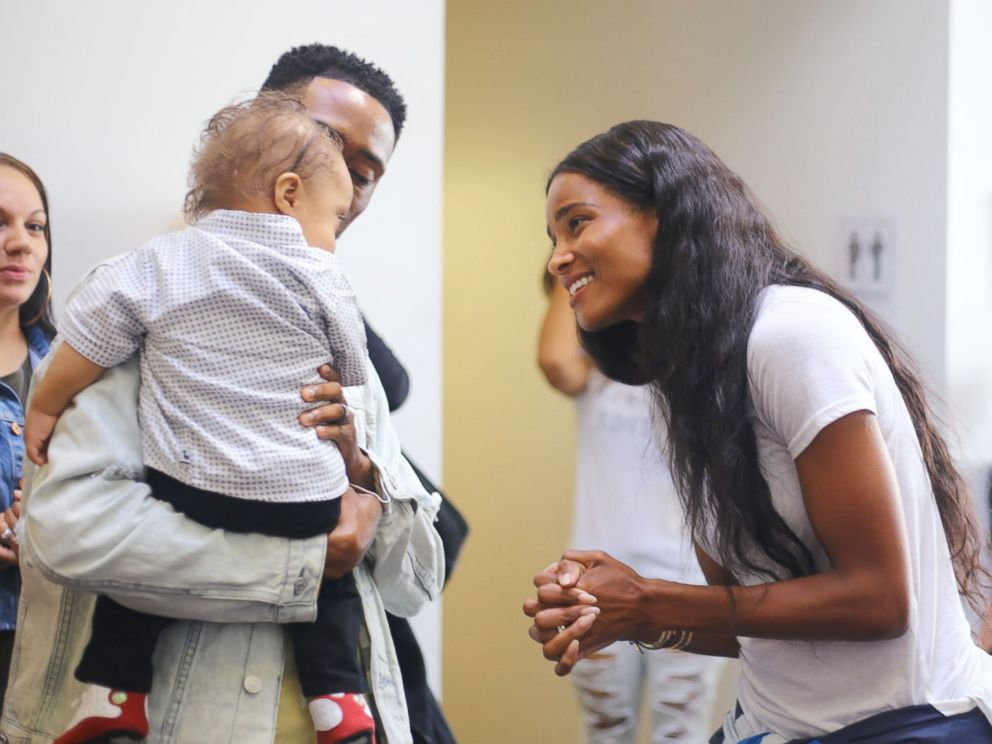 PHOTO: Ciara awared Kenny Thomas and his son Kristian the winners of her Level Up challenge after a video of the pair went viral on Instagram.
