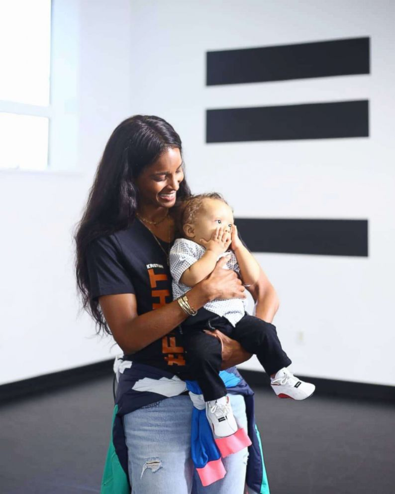 PHOTO: Singer Ciara surprised Kenny Thomas, 34, after he danced to her song, Level Up for his 1-year-old, Kristian, after the toddler recovered from his first round of chemotherapy.