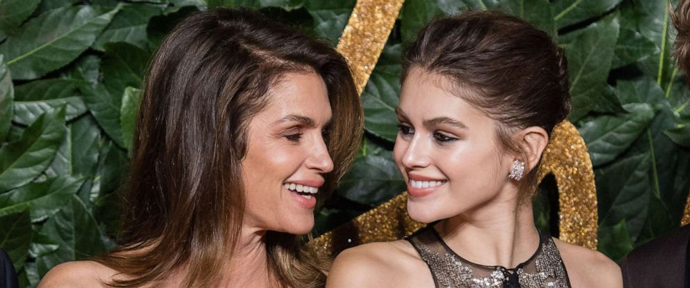 PHOTO: In this Dec. 10, 2018, file photo, Cindy Crawford and Kaia Gerber arrive at The Fashion Awards 2018 In Partnership With Swarovski at Royal Albert Hall in London.