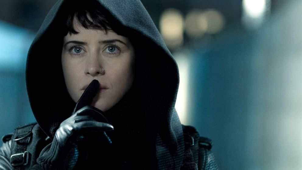 "Claire Foy, as Lisbeth Salander, in a scene from ""The Girl in the Spider's Web."""