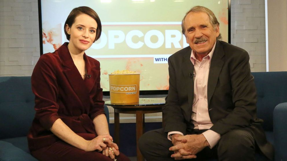 "Claire Foy appears on ""Popcorn with Peter Travers"" at ABC News studios, Nov. 5, 2018, in New York City."
