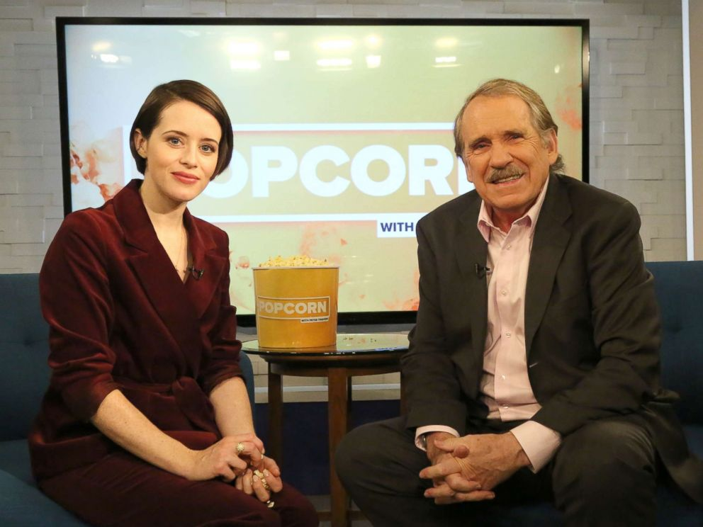 PHOTO: Claire Foy appears on Popcorn with Peter Travers at ABC News studios, Nov. 5, 2018, in New York City.