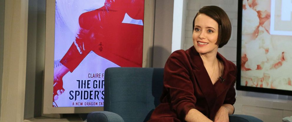 """PHOTO: Claire Foy appears on """"Popcorn with Peter Travers"""" at ABC News studios, Nov. 5, 2018, in New York City."""