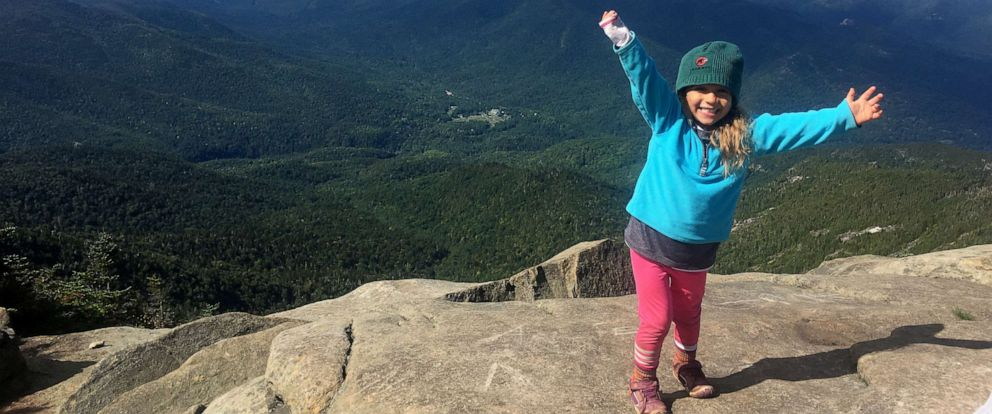 PHOTO: Maebh Nesbitt climbed all 46 high peaks in the Adirondack mountains at just 4 years old.