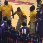Coach Sekoe White of the Mississippi School for the Deaf was recorded as he used American Sign Language to communicate with his team.