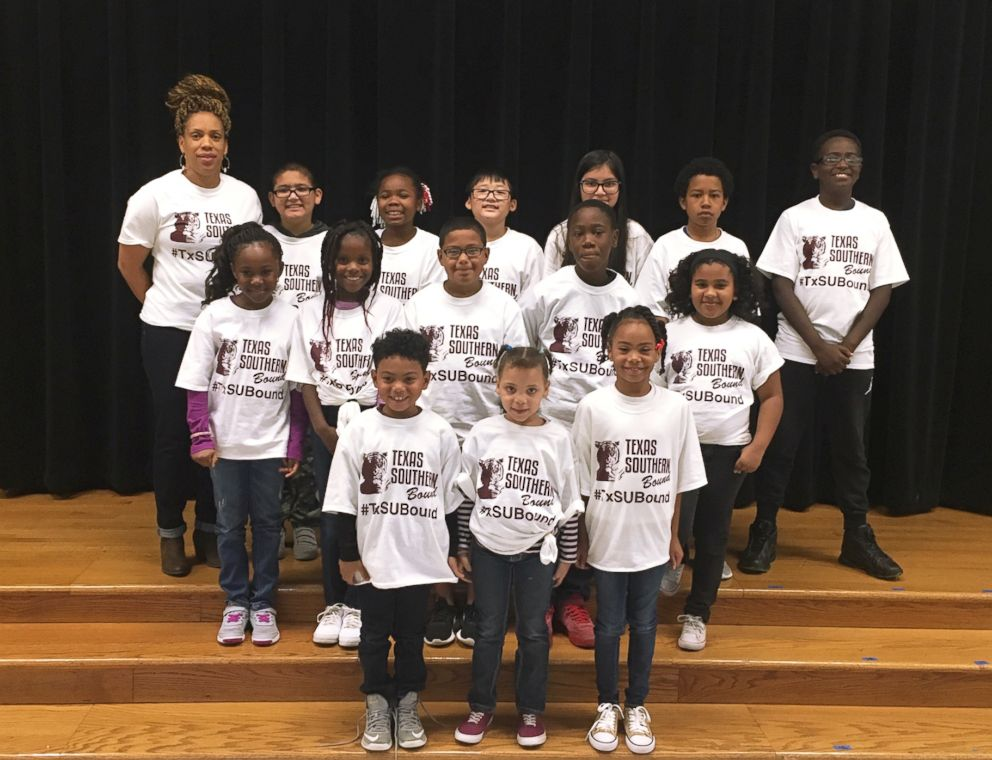PHOTO: Thanks to 30 U.S. colleges and universities, 425 kids have a shirt to wear on Copperfield Elementary Schools weekly college t-shirt day.