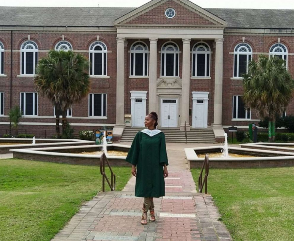 PHOTO: Madelyn McClarey received her degree from Florida A&M University after her twin sons convinced her to attend.