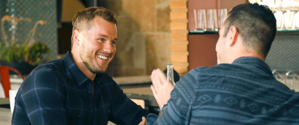 PHOTO: Colton and the seven remaining women go to his hometown of Denver. He decides to meet with popular Bachelor Ben Higgins for his advice, sharing his fear of being blindsided by a bachelorette who is not as serious as he is.