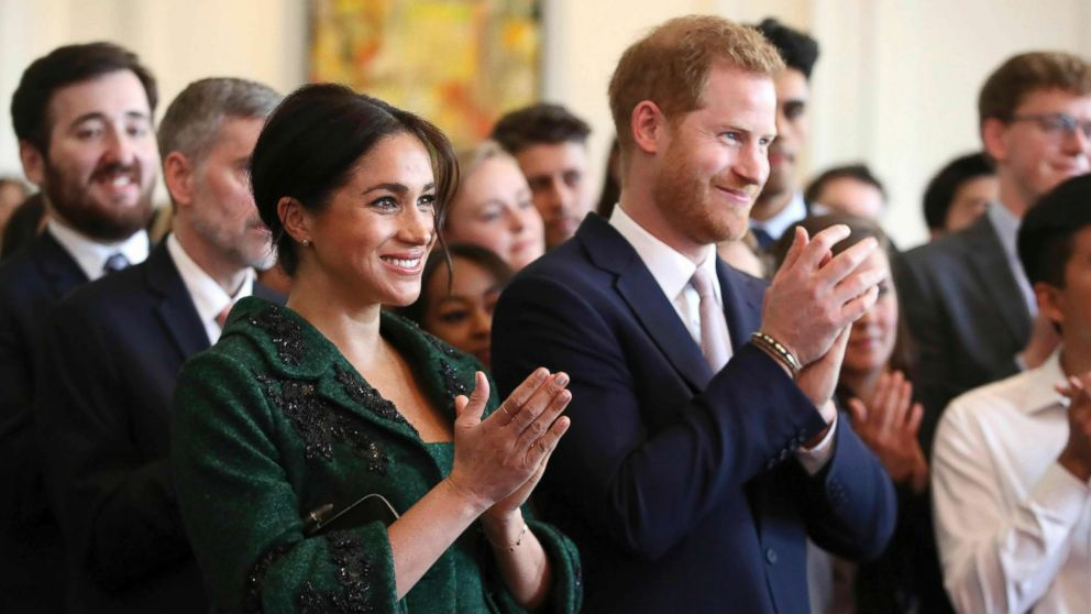 Britain's Prince Harry and Meghan, Duchess of Sussex attend the Commonwealth Day Youth Event at Canada House in London, March 11, 2019.