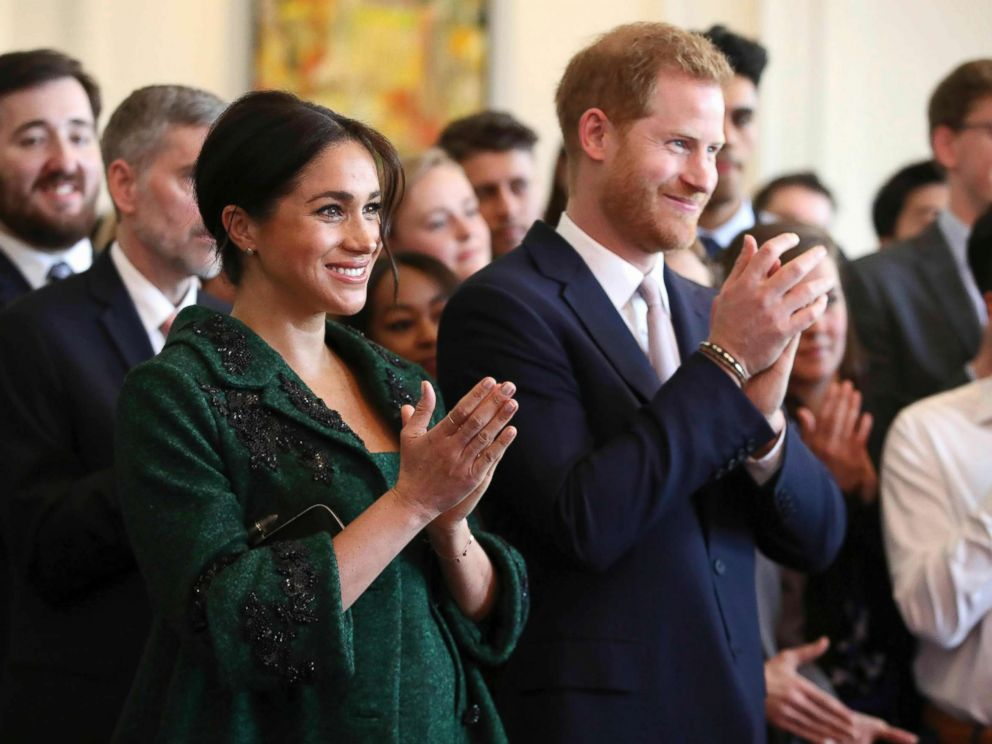 PHOTO: Britains Prince Harry and Meghan, Duchess of Sussex attend the Commonwealth Day Youth Event at Canada House in London, March 11, 2019.