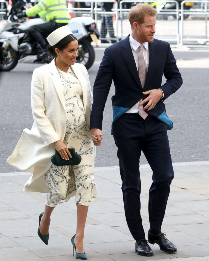 Duchess Meghan Wears High Heels Far Into Pregnancy