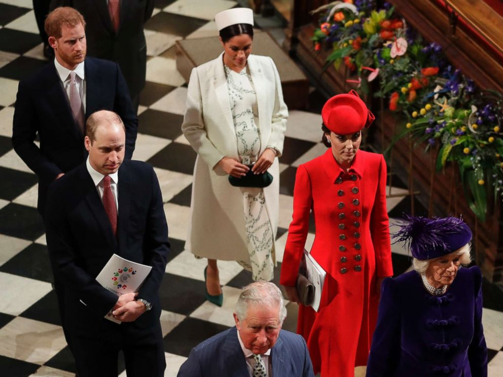 PHOTO: Members of Britains Royal family leave after attending the Commonwealth Service at Westminster Abbey in London, March 11, 2019.