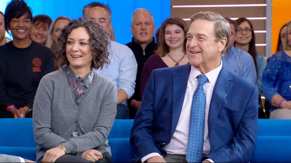 "Sara Gilbert and John Goodman appear on ""Good Morning America,"" Oct. 16, 2018."