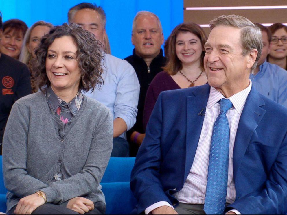 PHOTO: Sara Gilbert and John Goodman appear on Good Morning America, Oct. 16, 2018.