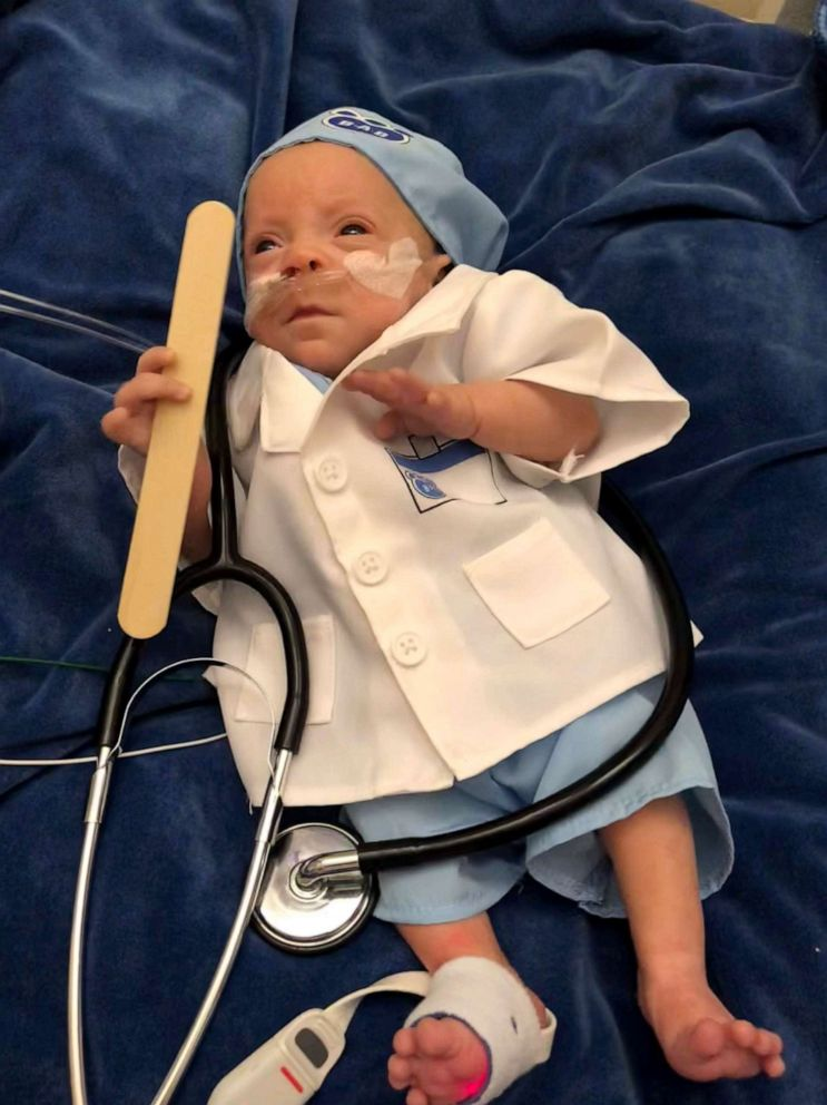 PHOTO: From the NICU, Connor Florio, now 8 months, was admitted to Blythedale Hospital in New York, where he gained weight.