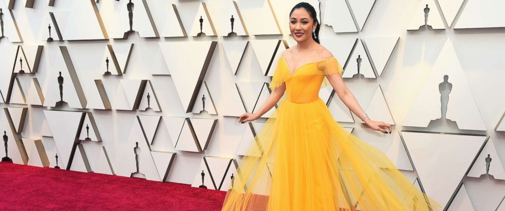 PHOTO: Constance Wu arrives at the Oscars, Feb. 24, 2019, at the Dolby Theatre in Los Angeles.
