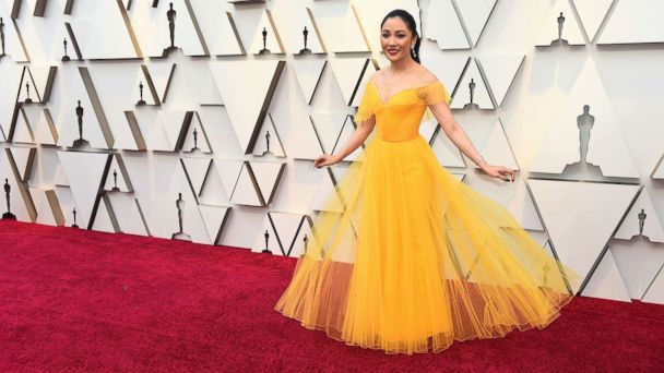 The special meaning behind Constance Wu's yellow Oscars dress