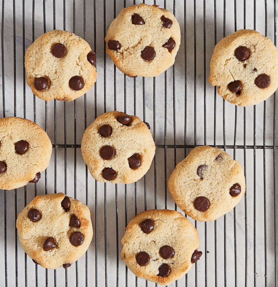 PHOTO: Chewy chocolate chip cookies by Jen Fisch of KetoIntheCity.com.
