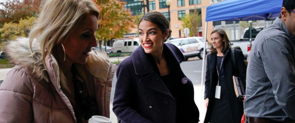 PHOTO: Rep.-elect Alexandria Ocasio-Cortez, D-NY., arrives for orientation for new members of Congress, Nov. 13, 2018, in Washington D.C.