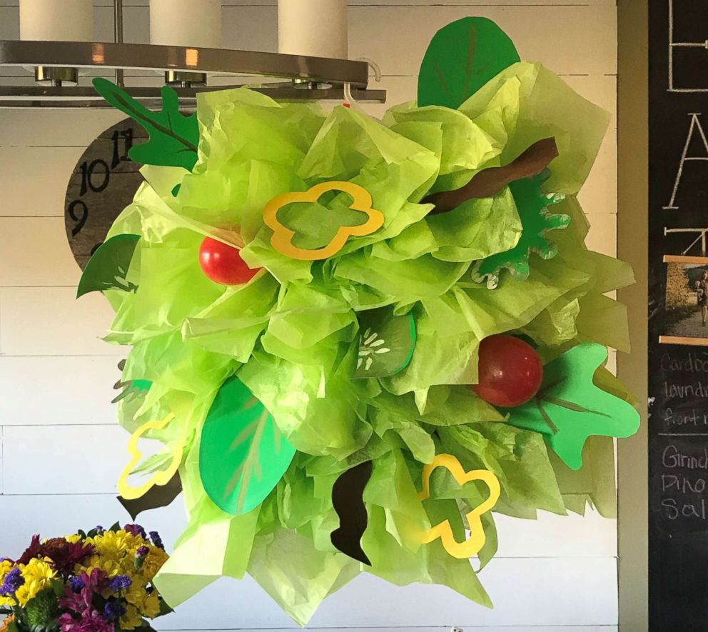 PHOTO: A salad Halloween costume made by Danielle Bevens is pictured here.