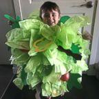 Danielle Bevens' son wears a salad Halloween costume.
