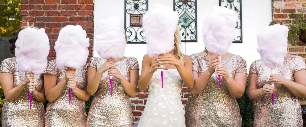 """PHOTO: Cassie Sweet used cotton candy as bouquets at her wedding and said they were a """"big hit."""""""