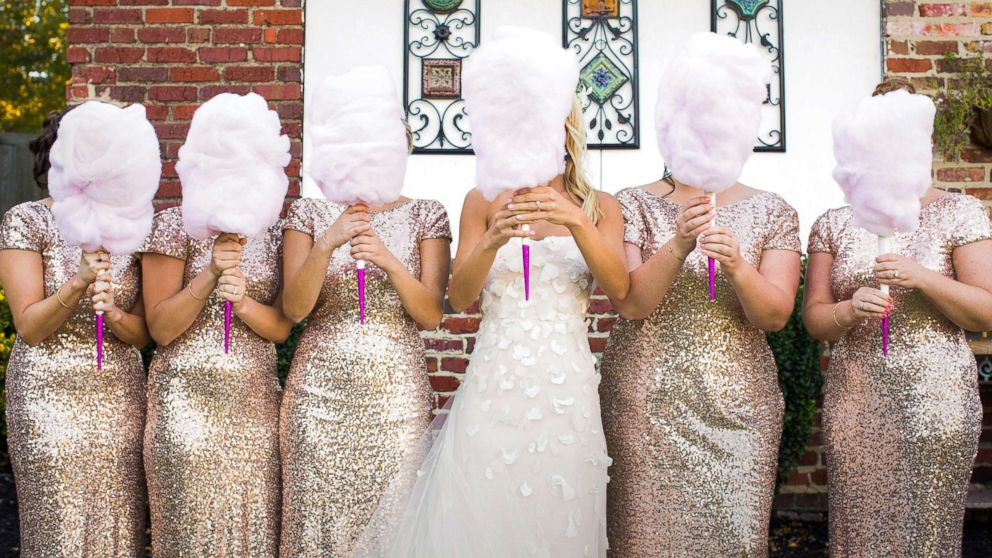 "Cassie Sweet used cotton candy as bouquets at her wedding and said they were a ""big hit."""