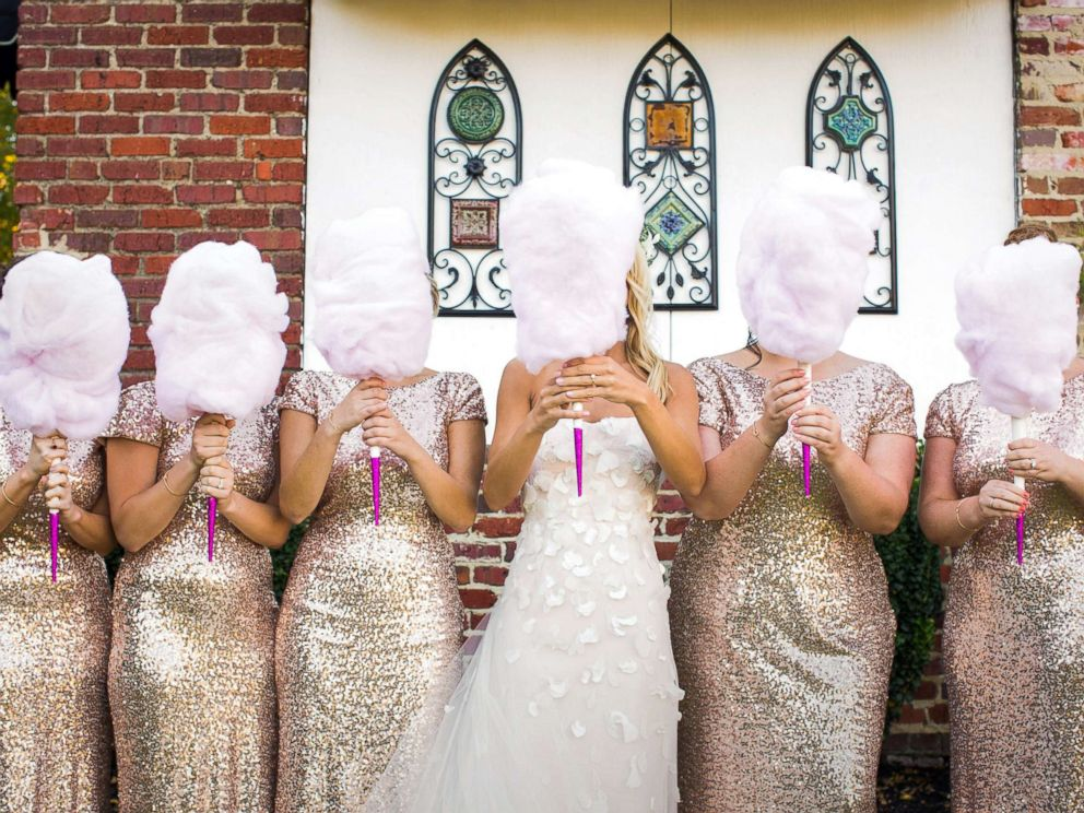 PHOTO: Cassie Sweet used cotton candy as bouquets at her wedding and said they were a big hit.
