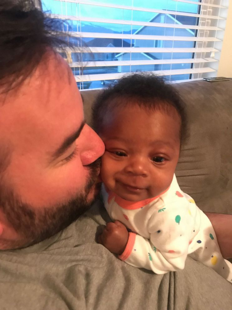 PHOTO: Joseph Weight is seen in an undated photo with his newly adopted daughter, Onni Pearl Weight, 3 months.