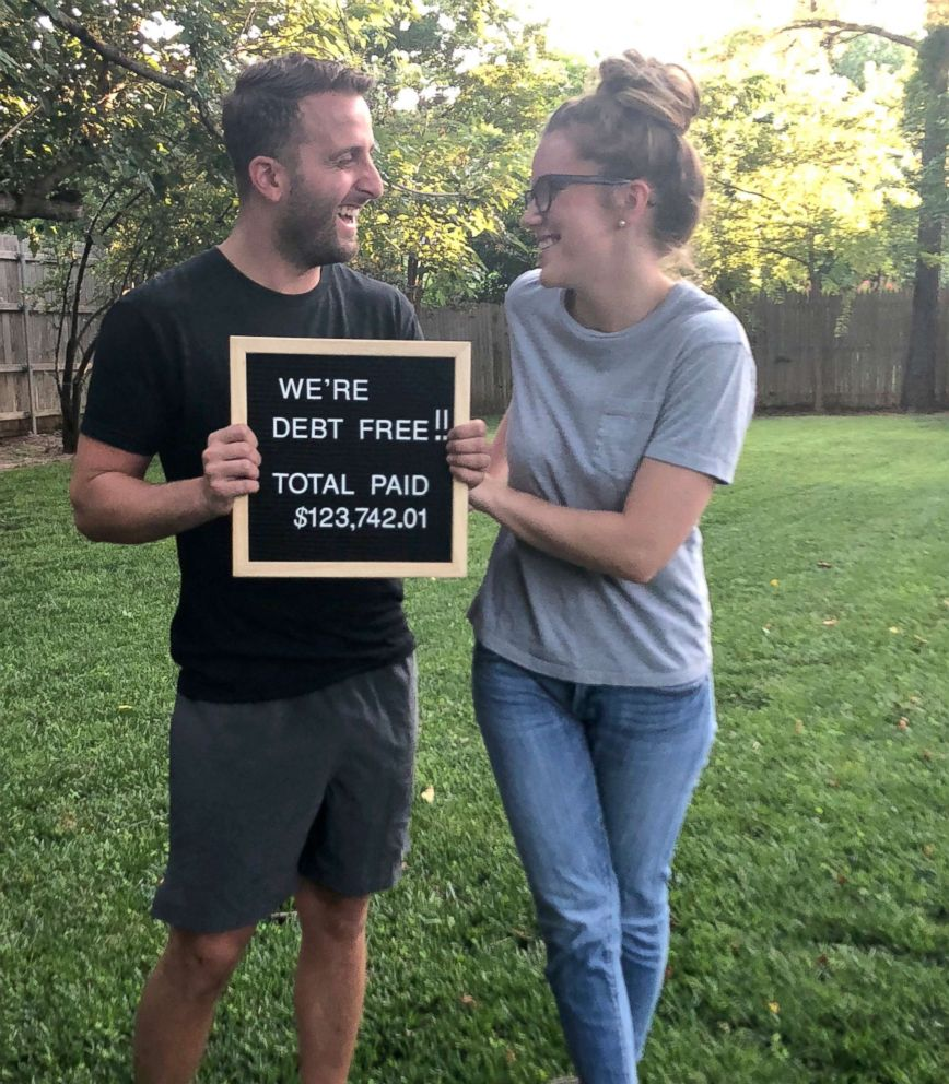 PHOTO: Christopher and Morgan Espinosa paid off nearly $124,000 in debt by changing their lifestyle and tackling their debt head on.
