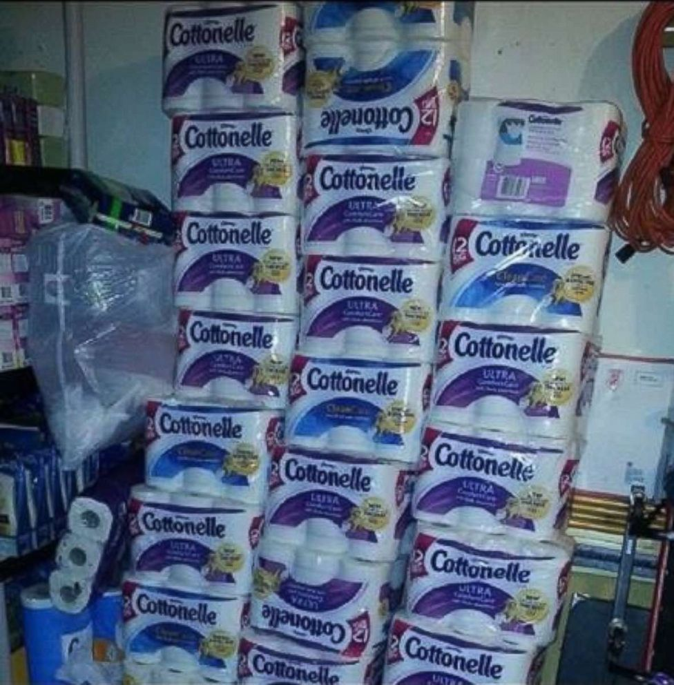 PHOTO: Latiaa Stewart uses coupons to purchase large quantities of supplies like toilet paper and paper towels.
