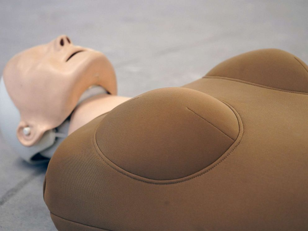 PHOTO: The Womanikin is an attachment for flat-chested CPR dummies.