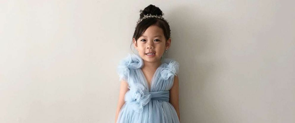 """PHOTO: Ha Truong made two outfits for her daughter based on the movie, """"Crazy Rich Asians."""""""