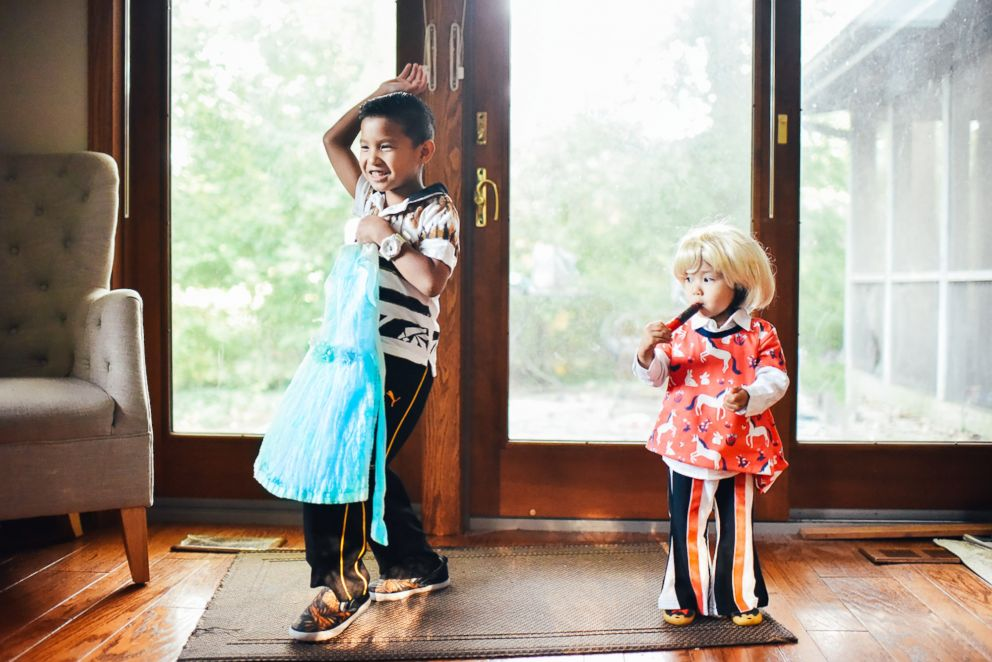 PHOTO: Mary Grace Pingoy helped her son and daughter dress up and their favorite movie characters.
