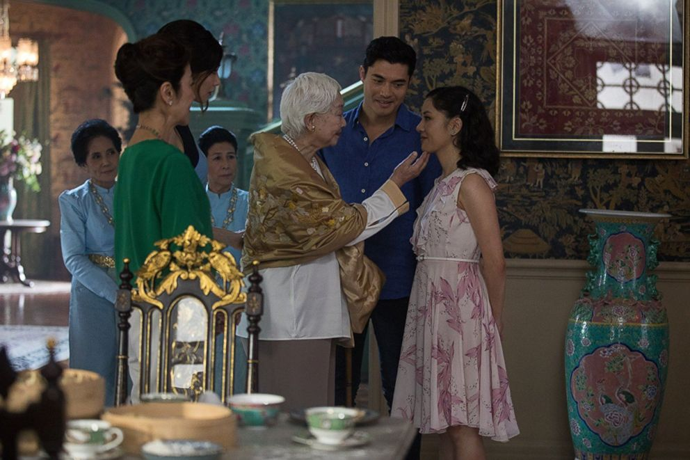 PHOTO: Michelle Yeoh, Constance Wu, Gemma Chan, and Henry Golding in a scene from Crazy Rich Asians.