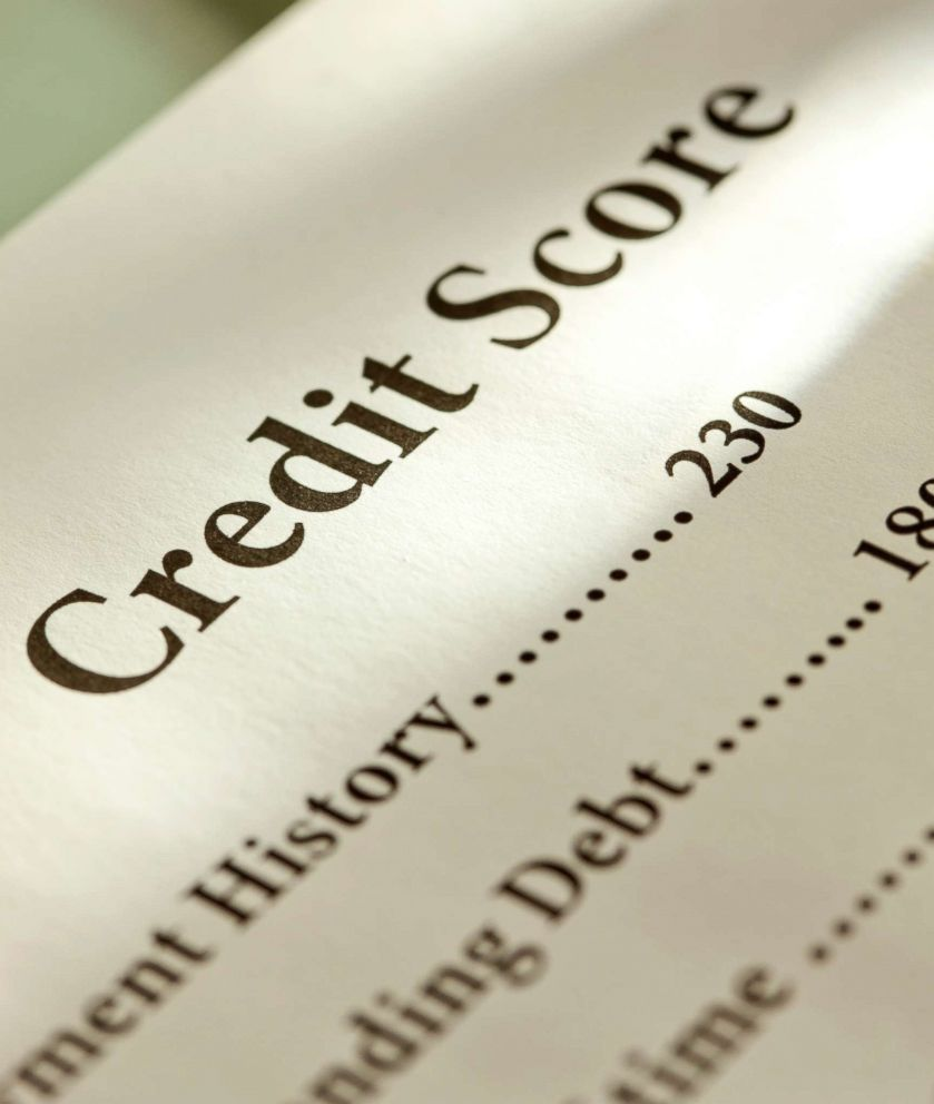 PHOTO: In this undated stock photo shows a credit score card.
