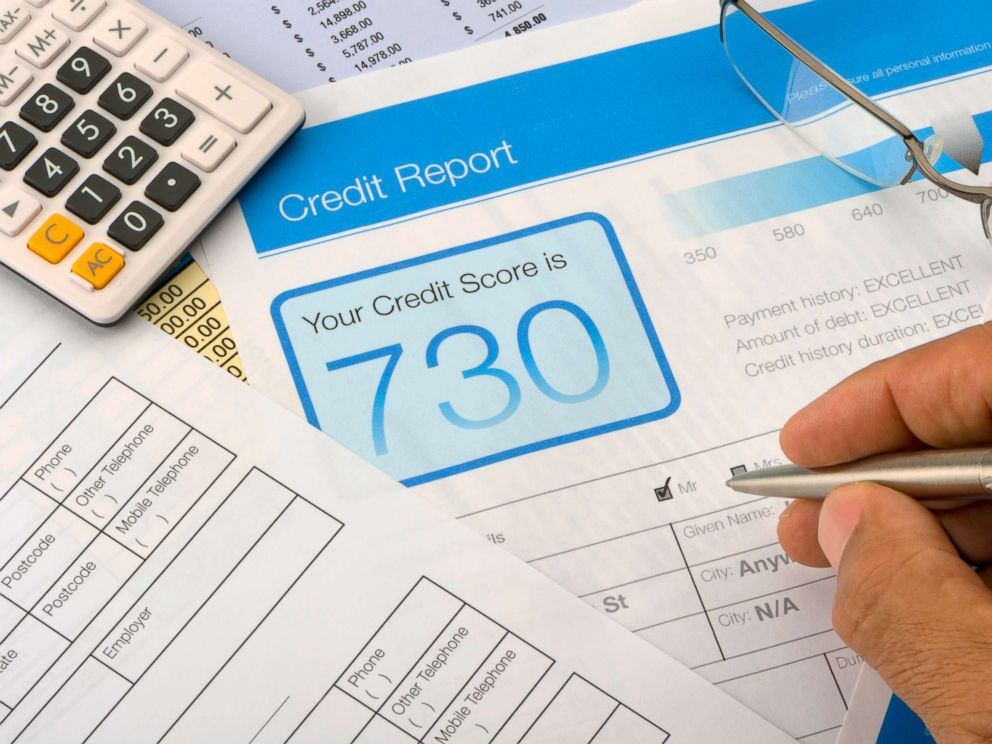 PHOTO: In this undated stock photo, a credit report form on a desk with other paperwork.