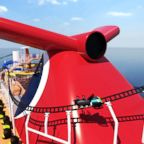 A rendered illustration shows the electric roller coaster on the Carnival Cruise Line ship Mardi Gras, planned for 2020.