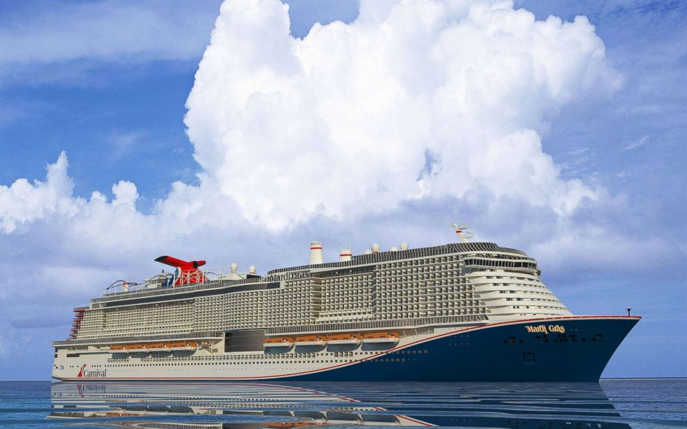PHOTO: A rendered illustration shows the Carnival Cruise Line ship Mardi Gras, planned for 2020.