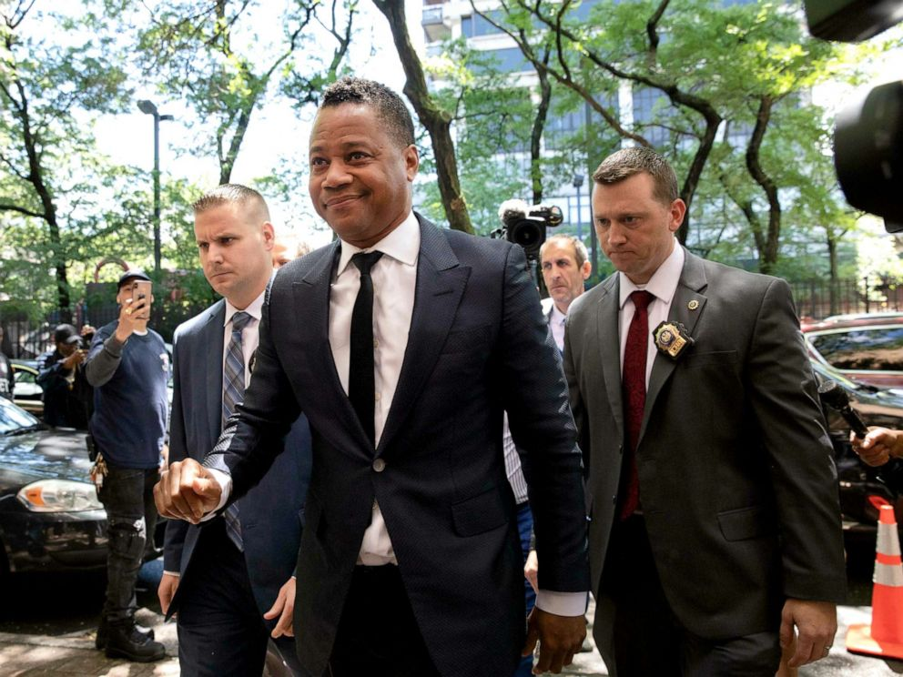 PHOTO: Actor Cuba Gooding Jr. arrives at the New York Police Departments Special Victims Unit, June 13, 2019.