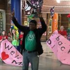 Tyrees Dandridge, known to students as Mr. D., returned to Pole Green Elementary School in Virginia to a screaming crowd as he returned to his duties as custodian on Feb. 25, after a heart and kidney transplant.