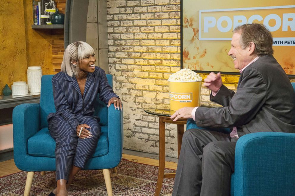 PHOTO: Cynthia Erivo appears on Popcorn with Peter Travers at ABC News studios, Sept. 28, 2018, in New York.