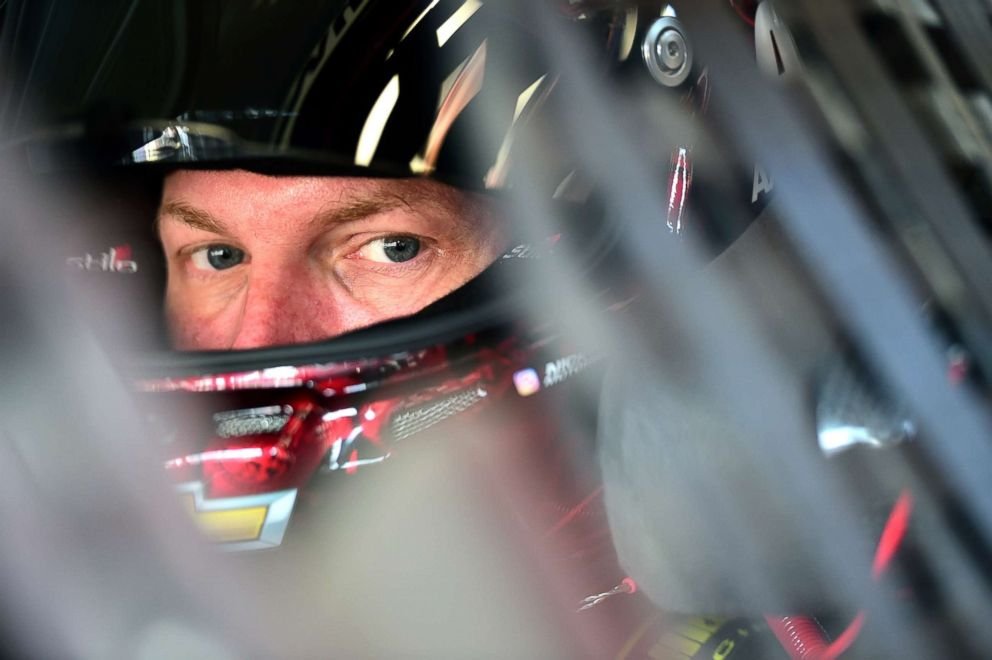 PHOTO: In this file photo, Dale Earnhardt Jr., driver of the #88 AXALTA Chevrolet, sits in his car during practice for the Monster Energy NASCAR Cup Series Championship Ford EcoBoost 400 at Homestead-Miami Speedway, Nov. 17, 2017, in Homestead, Fla.