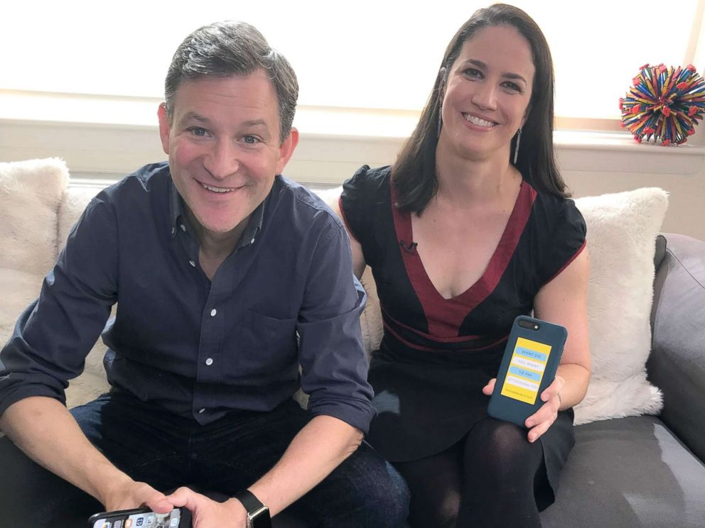 PHOTO: How to Break Up With Your Phone author Catherine Price poses with ABC News anchor Dan Harris.