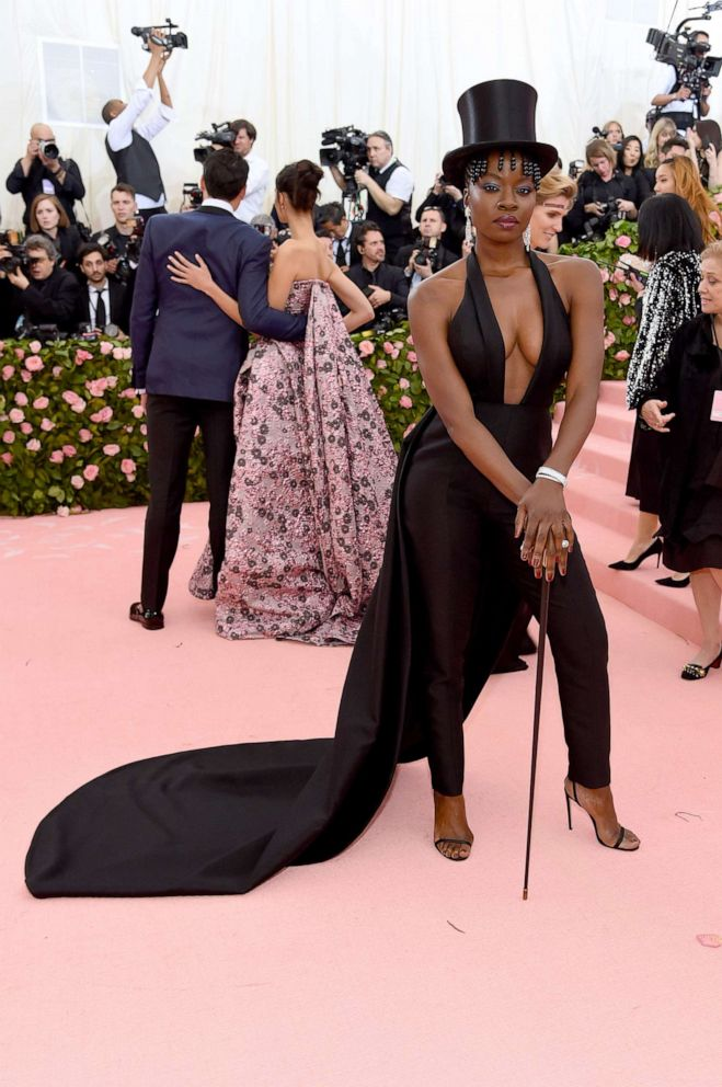 PHOTO: Danai Gurira attends the 2019 Met Gala Celebrating Camp: Notes on Fashion at the Metropolitan Museum of Art, May 6, 2019 in New York City.