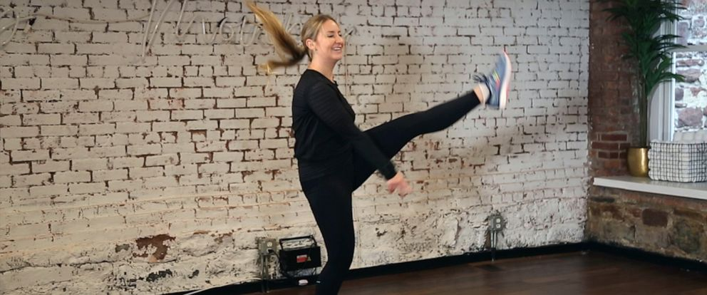 "PHOTO: ""Good Morning America"" producer Katie Conway dances in a DanceBody class."