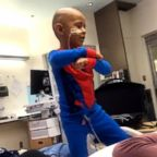 Solomon Haufano, 5, is spreading smiles with his epic Michael Jackson dance moves while he receives treatment to fight cancer at Seattle Children's Hospital.
