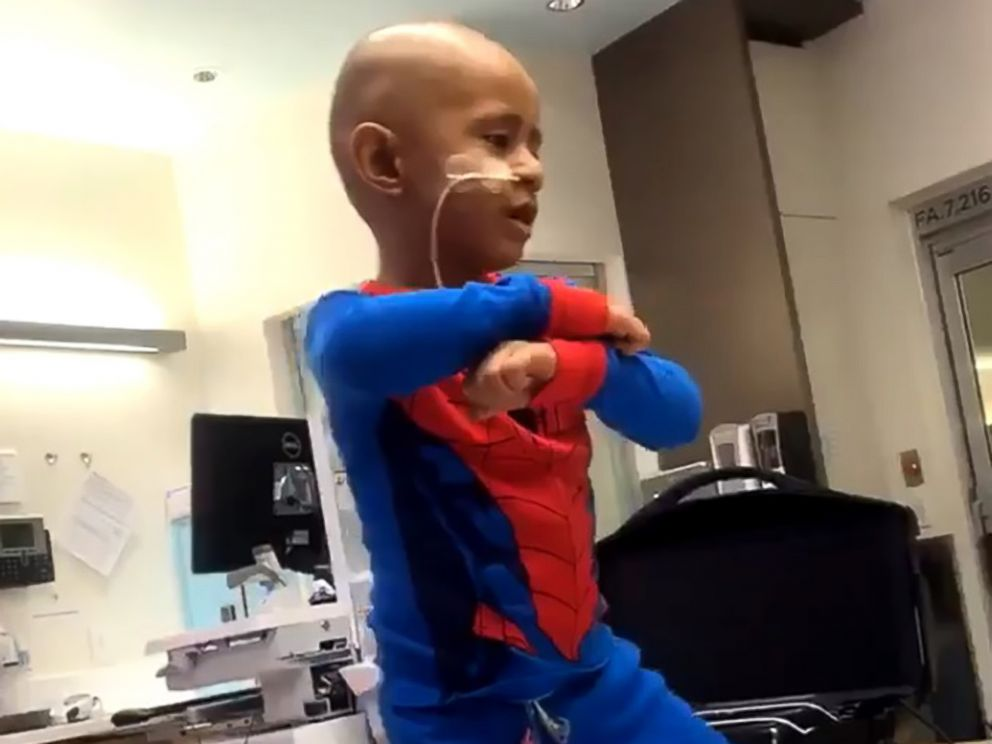 PHOTO: Solomon Haufano, 5, is spreading smiles with his epic Michael Jackson dance moves while he receives treatment to fight cancer at Seattle Childrens Hospital.