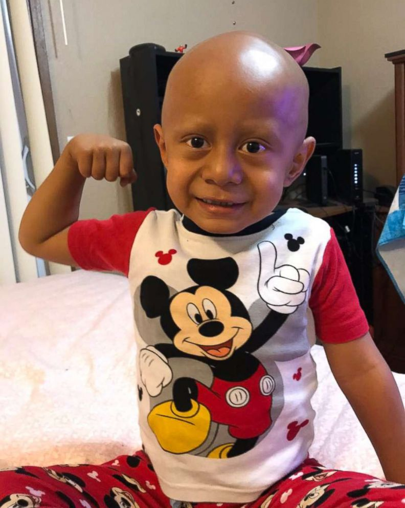 Solomon Haufano, 5, loves dancing to Michael Jackson as he undergoes treatment for cancer.