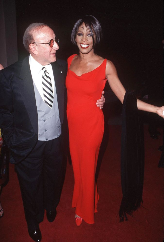PHOTO: Clive Davis and Whitney Houston attend the 41st annual Grammy awards, Feb. 24, 1999, in Los Angeles.